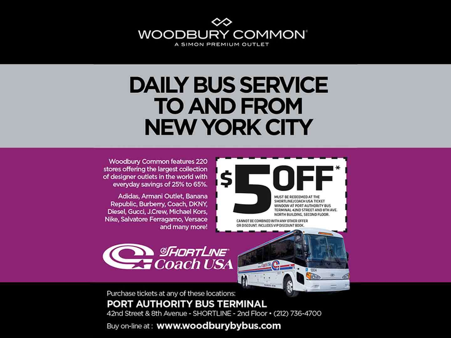Daily bus service to Woodbury Common